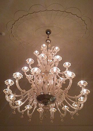 Chandelier at the Royal Park Hotel