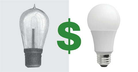 Old Edison Bulbs vs. Modern LEDs