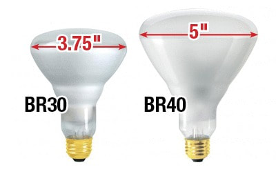 BR30 vs BR40 Size