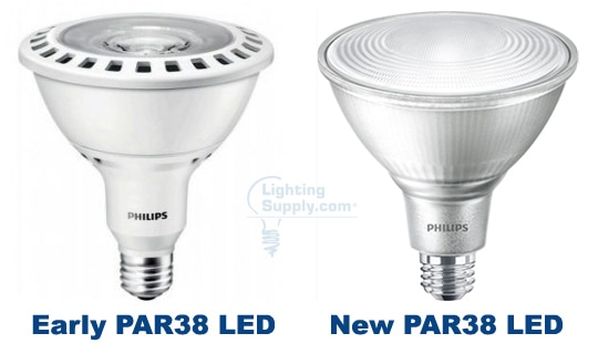 Old and New PAR38 LEDs