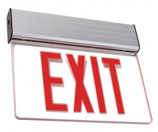 Edge Lit LED Exit Sign