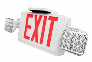 LED Exit Sign with Emergency Lights